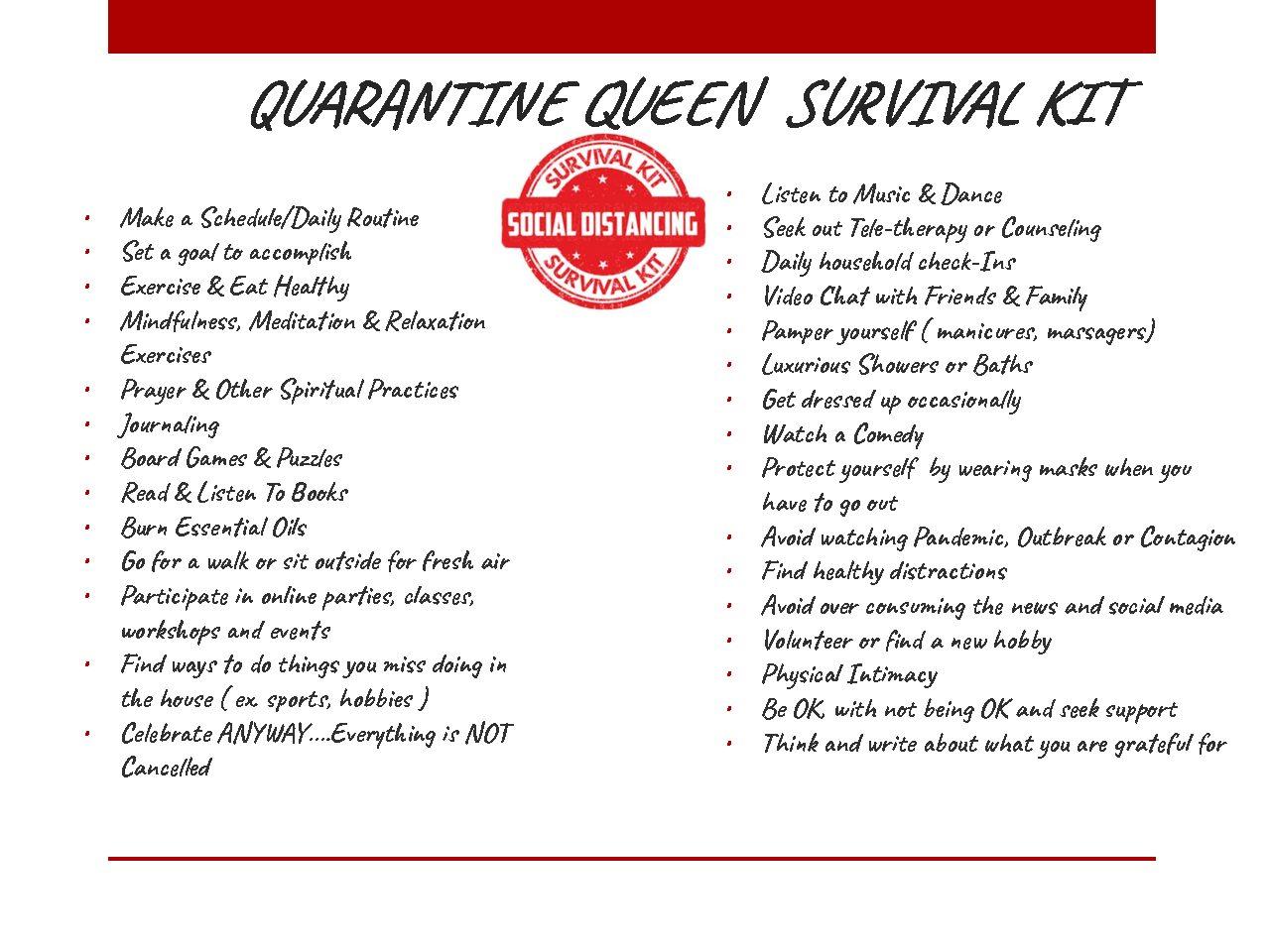 Quarantine Survival Tool Kit